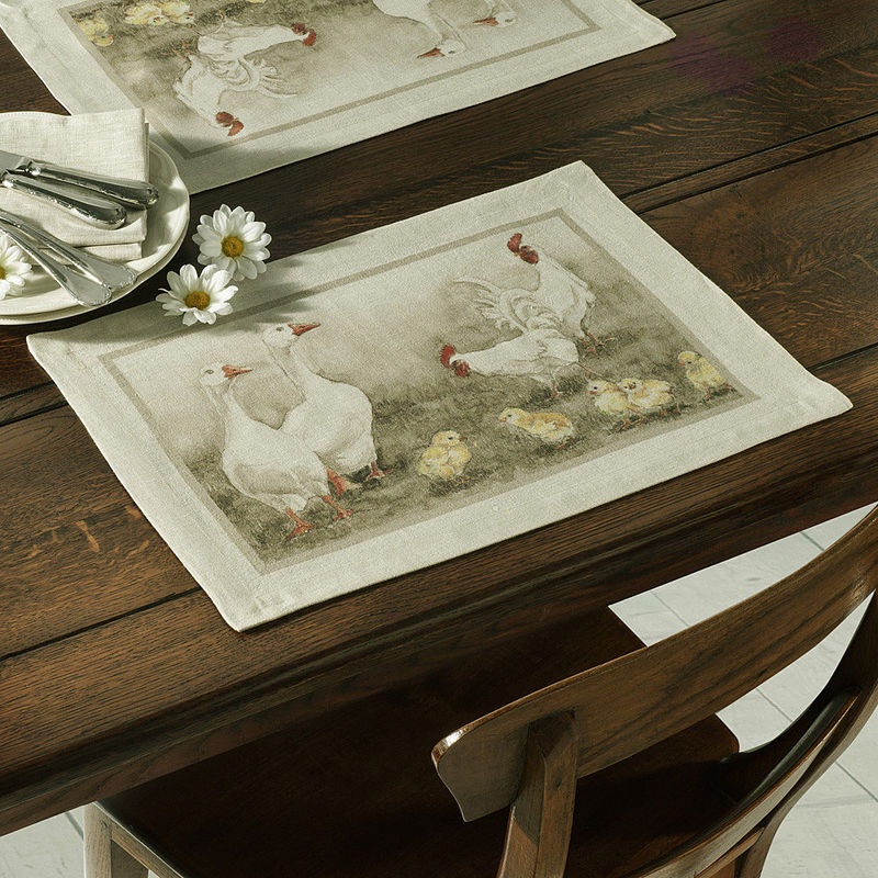 Set de table ce linge de table de style campagnard nous enchante avec son ambiance gaie hagen Linge de table luxe