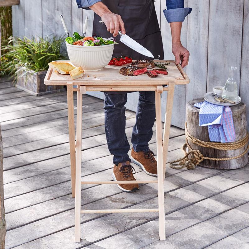 Mobile peu encombrante stable table pliante avec for Cuisine ouverte declaration h1