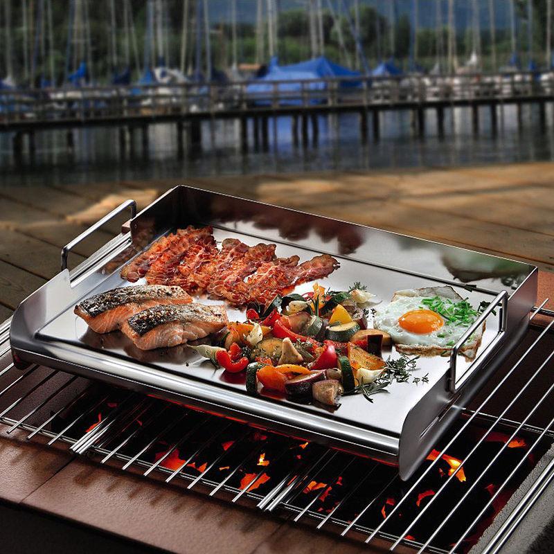 accessoire plancha pour barbecue pour de la viande bien