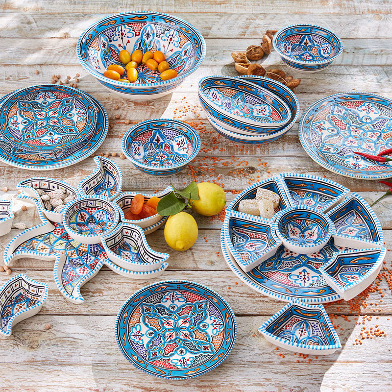 Assiettes plates orientales Photo 2