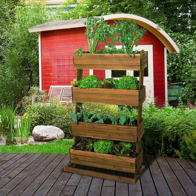 Plate-bande surélevée à étages : un jardin culinaire dans un tout ...
