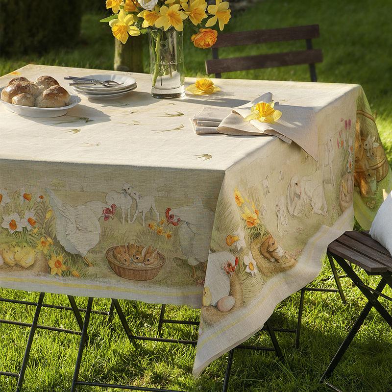 Nappe de table pour paques table de lit for Une nappe de table