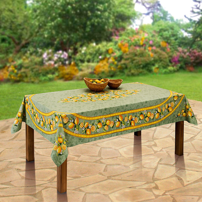 Nappe linge de table agrumes hagen grote gmbh - Linge de table raffine ...