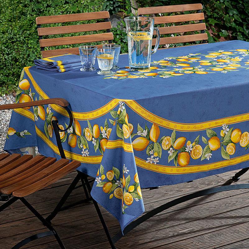 Nappe rectangulaire linge de table agrumes hagen grote - Nappe de table rectangulaire ...