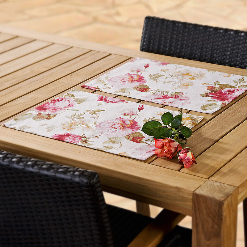 serviette linge de table anglais au motif de roses. Black Bedroom Furniture Sets. Home Design Ideas
