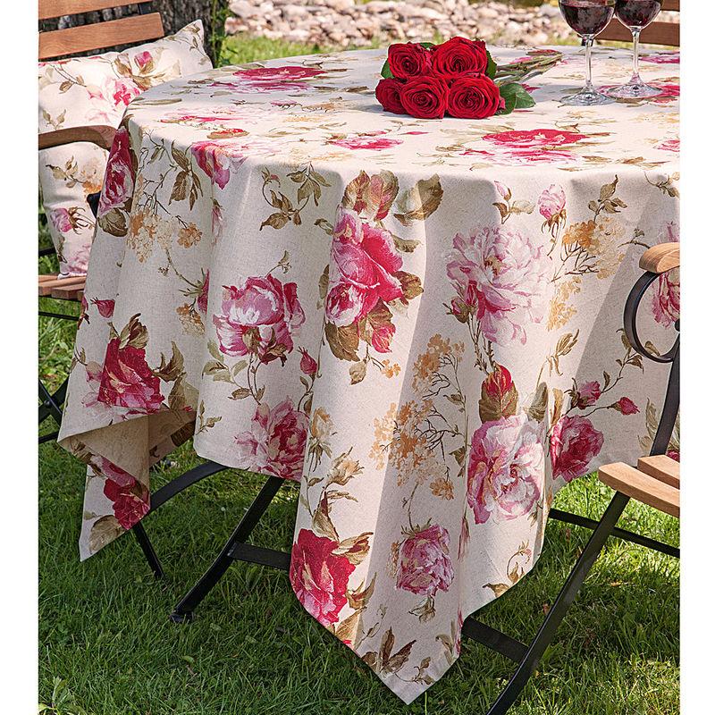 Serviette linge de table anglais au motif de roses hagen grote gmbh - Linge de maison en anglais ...