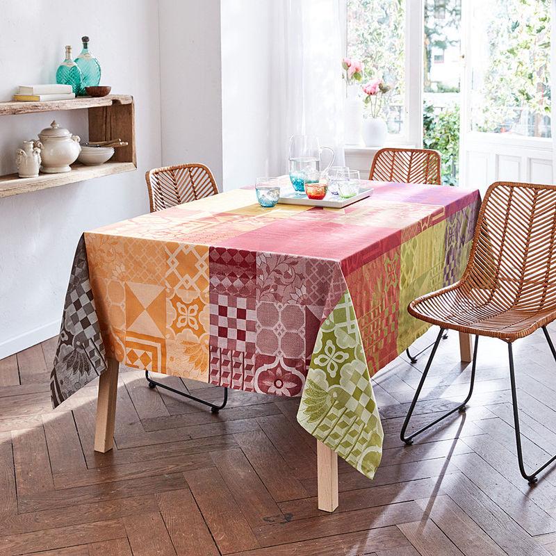 nappe linge de table jacquard italien haut en couleurs. Black Bedroom Furniture Sets. Home Design Ideas