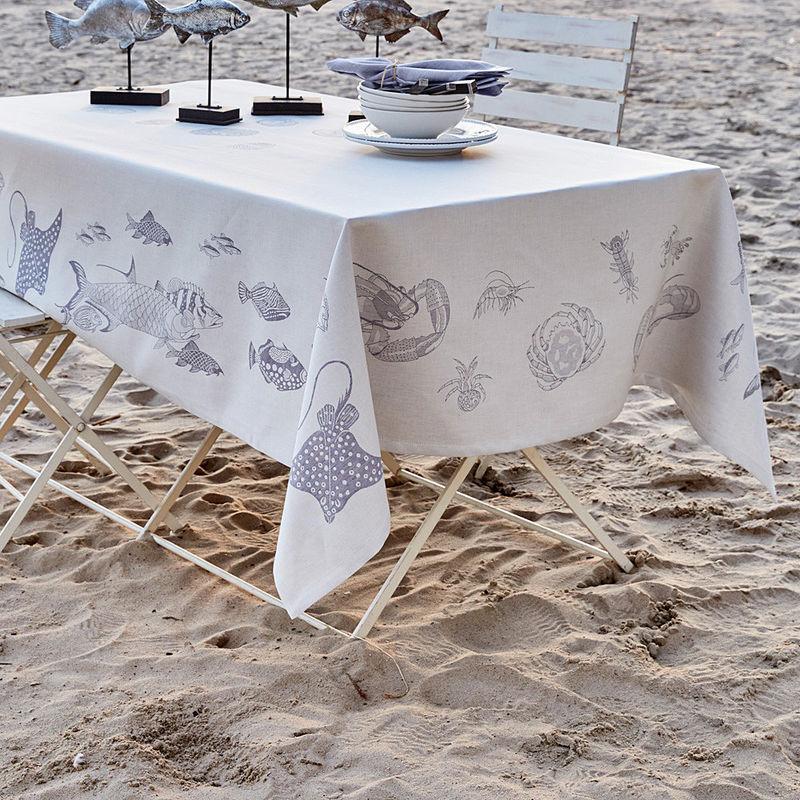 nappe linge de table en toile m tisse de style maritime. Black Bedroom Furniture Sets. Home Design Ideas