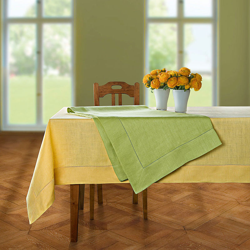 Nappe linge de table en lin chevrons hagen grote gmbh - Linge de table raffine ...
