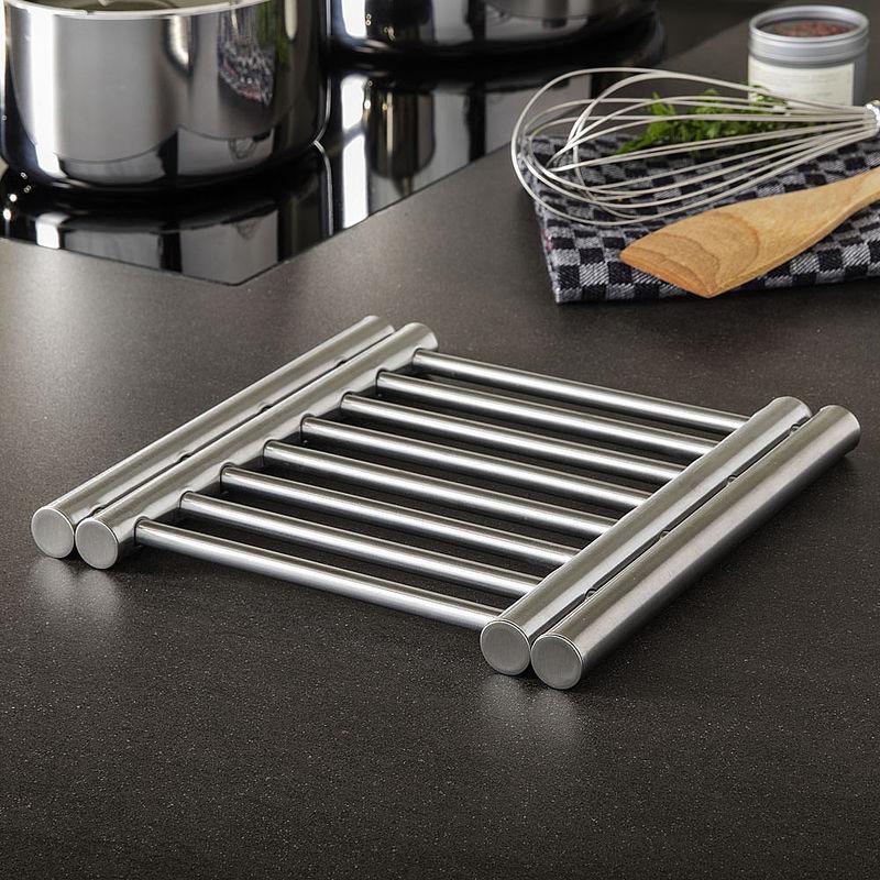 Dessous de plat tirable en acier inoxydable pour for Casserole inox ou acier inoxydable