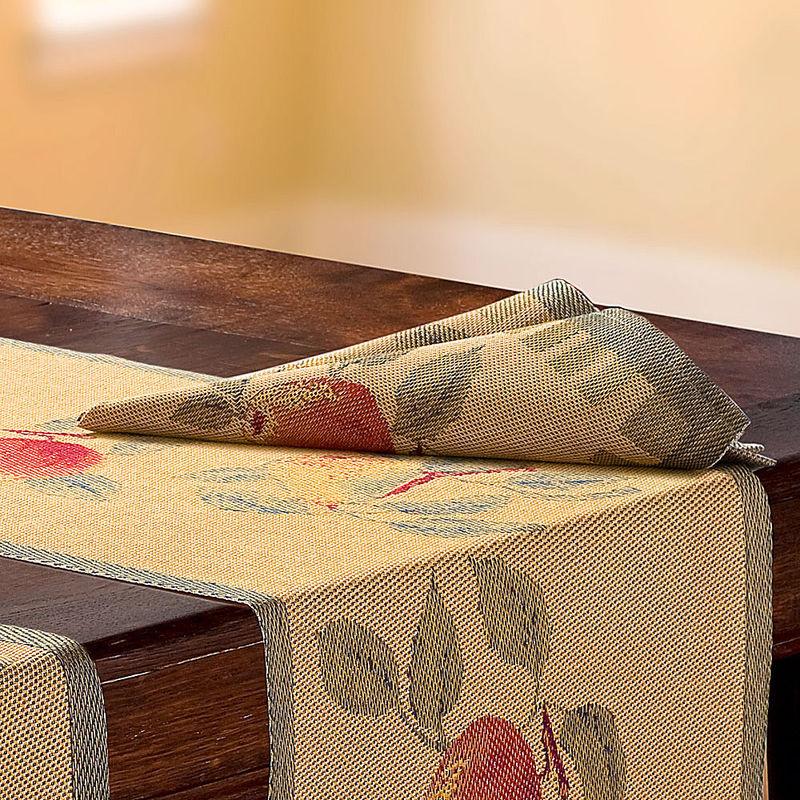 Serviette linge de table royal avec d cor de pommes et de poires hagen grote gmbh - Linge de table luxe ...