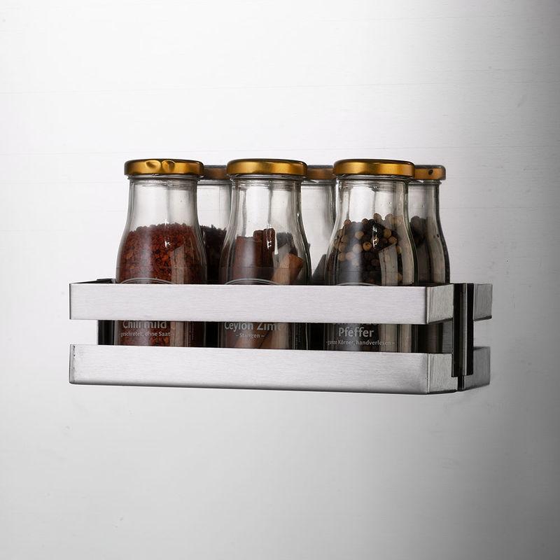 Rangement épices Aimanté: Panier En Inox Pour Panneau Magnétique