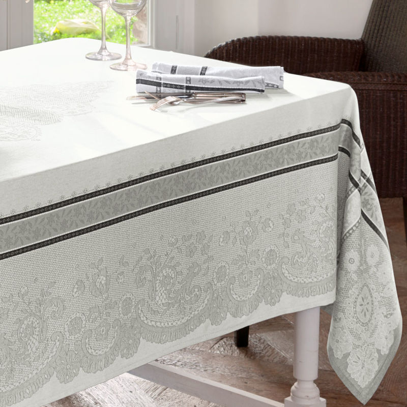 Nappe linge de table jacquard au motif soign de for Tapis de cuisine aliexpress