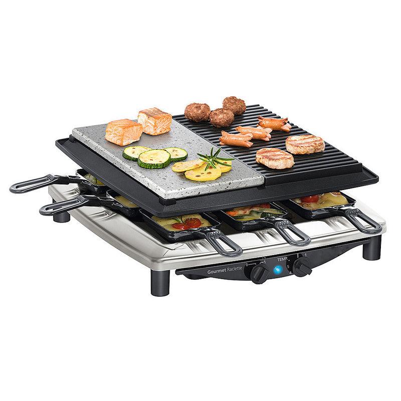 Appareil raclette et gril performant avec pierre de lave - Poele en pierre de lave ...