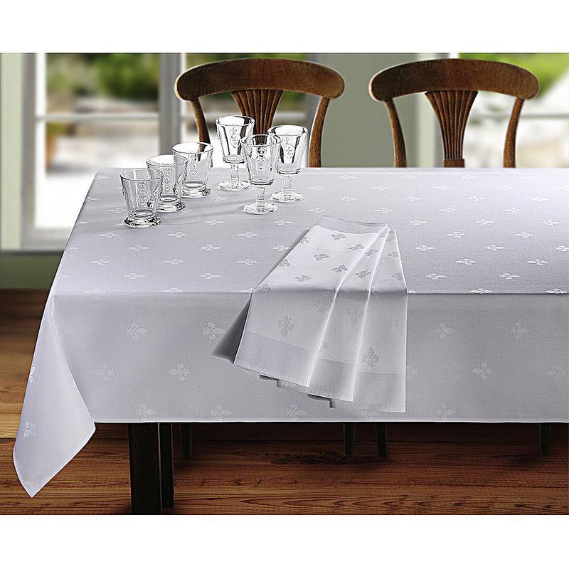 serviette linge de table satin damas fleur de lys. Black Bedroom Furniture Sets. Home Design Ideas