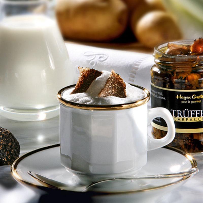 cappuccino de pommes de terre et de truffes recette hagen grote gmbh. Black Bedroom Furniture Sets. Home Design Ideas
