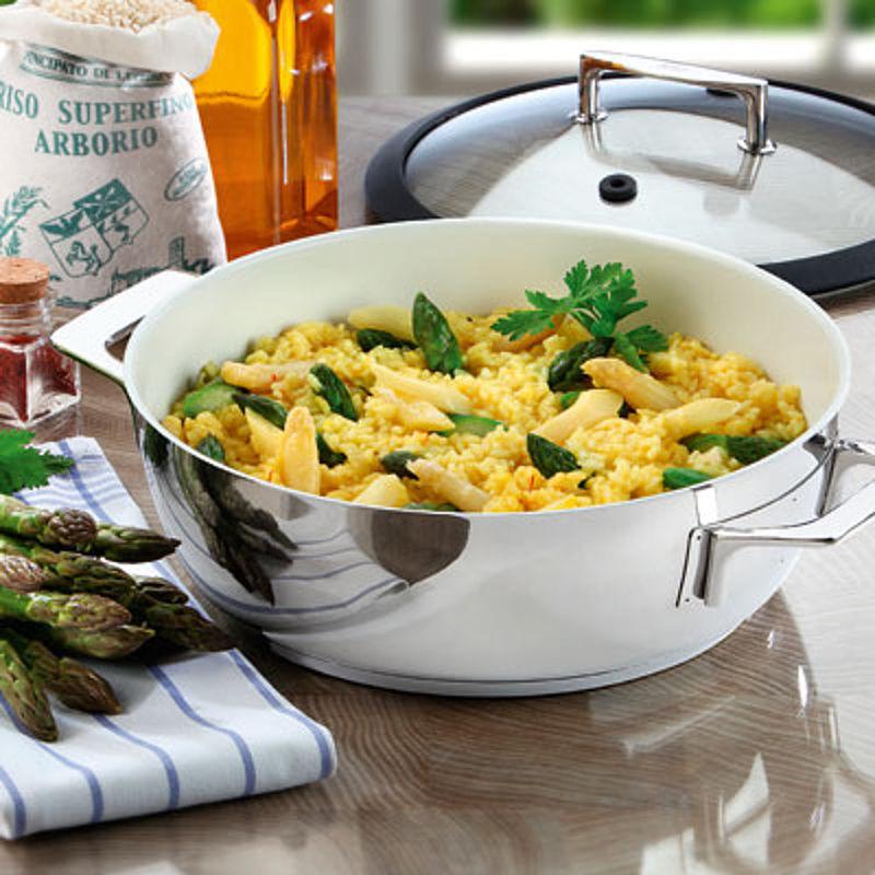 risotto aux asperges et au safran recette hagen grote gmbh. Black Bedroom Furniture Sets. Home Design Ideas