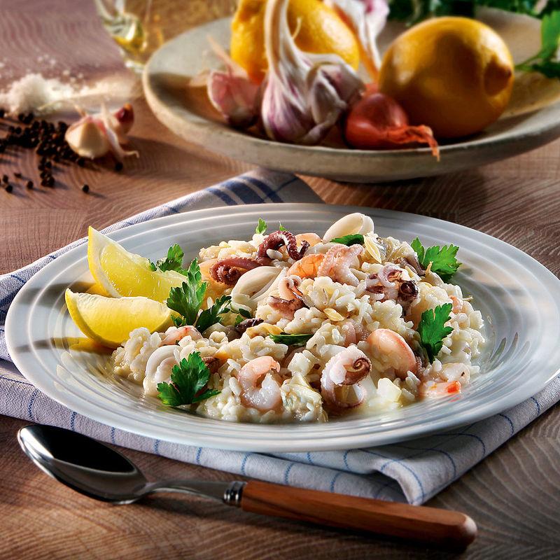 Risotto aux fruits de mer recette hagen grote gmbh - Pates aux fruits de mer vin blanc ...