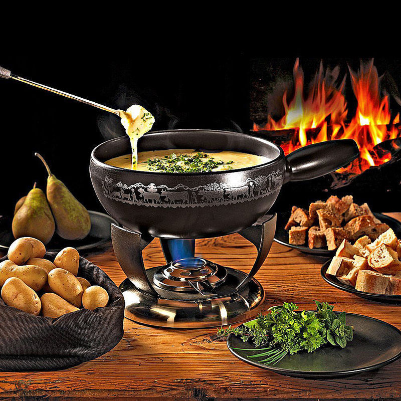 fondue au fromage suisse recette hagen grote gmbh. Black Bedroom Furniture Sets. Home Design Ideas