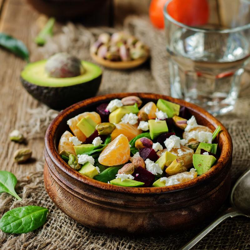 Salade D Avocat A La Mandarine Et Au Mandolio Huile De Mandarine