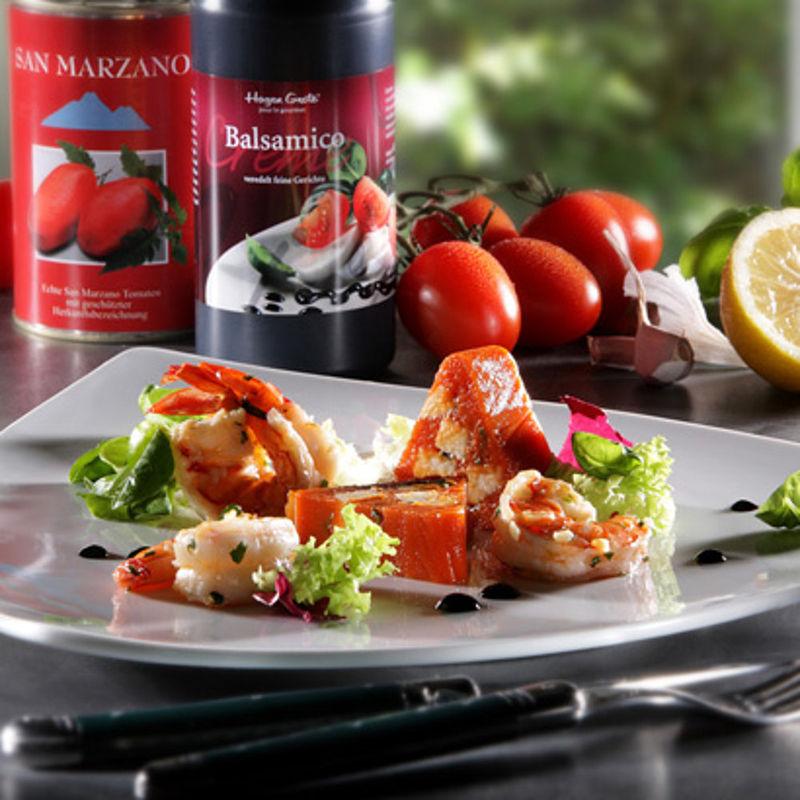 terrine de tomates san marzano et mozzarella avec. Black Bedroom Furniture Sets. Home Design Ideas