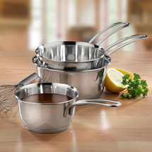 Lot de 3 casseroles coniques, ø 12, 14, 16 cm